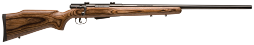 savage arms rifle bolt action wood stock blued barrel