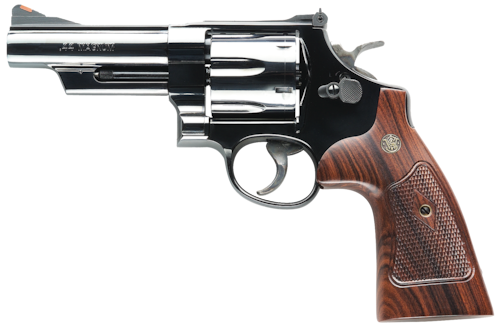 handguns revolver smith and wesson wood grips 44 magnum
