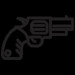 illustrated revolver icon