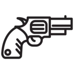 illustrated revolver icon
