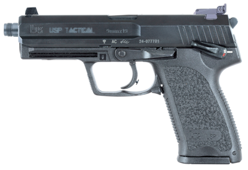 Heckler and Koch USP Tactical Threaded Barrel Semi Auto Black Handgun