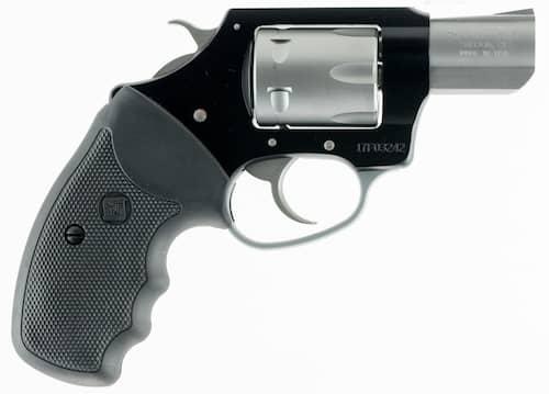 charter arms revolver black frame rubber grips