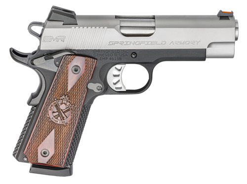 Springfield Armory EMR 1911 Wood Grips two tone semi auto handgun