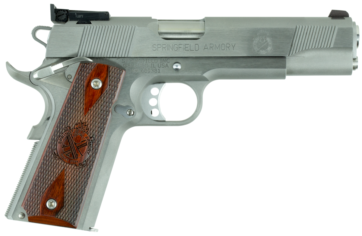 SPRINGFIELD ARMORY 1911 LOADED TARGET STAINLESS ADJ SIGHTS