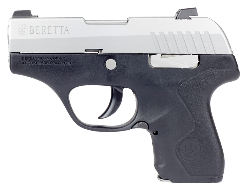 Beretta USA JMP8D25 Pico 380 Automatic Colt Pistol Double 2.7 6+1 Black Polymer GripFrame Grip Stainless Steel Slide LEFT.jpg