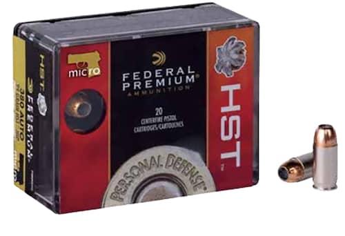 Federal Premium Personal Defense HST Micro 380 ACP 20 Bx