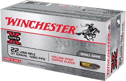 Winchester Ammo X22LRH Super-X 22 LR 37 GR Lead Hollow Point 50 Bx/ 100 Cs