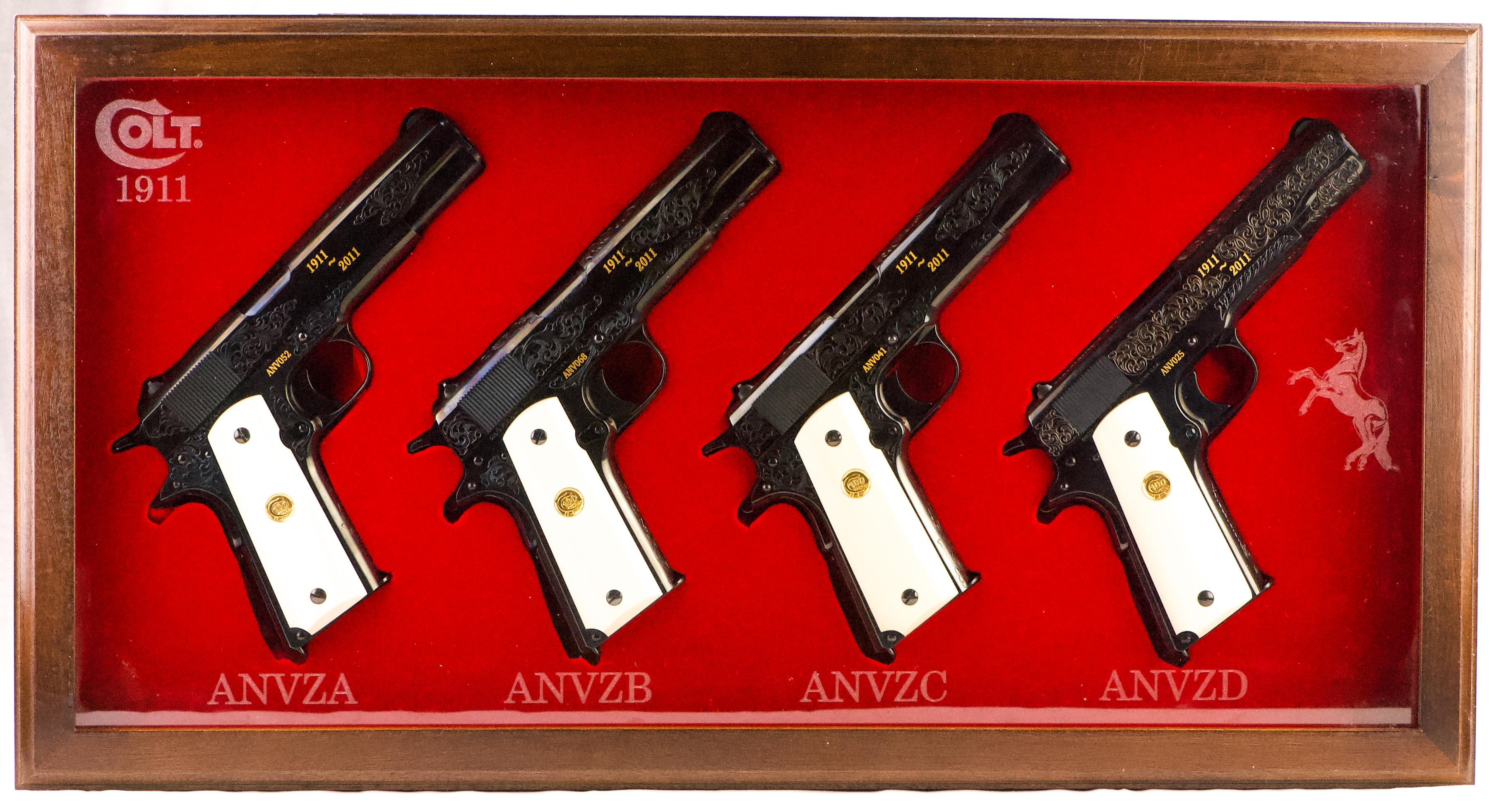 COLT 1911 100TH ANNIVERSARY 4 GUN SET