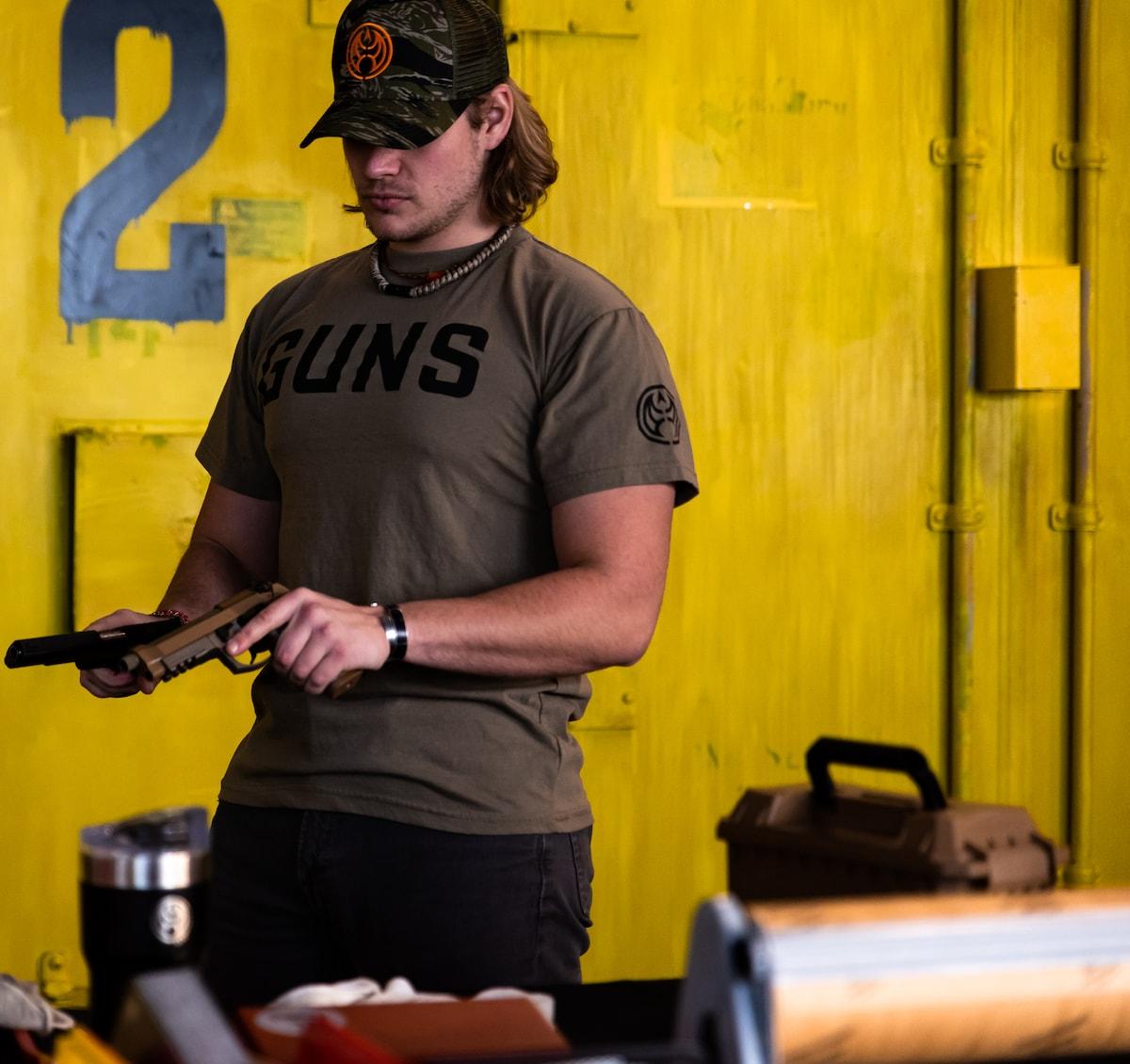 """GUNS"" MILITARY TEE"