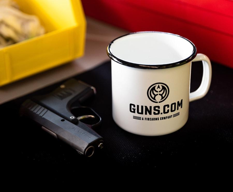 GUNS.COM ENAMEL METAL CAMPER MUG