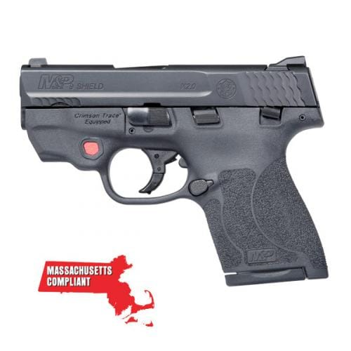 SMITH & WESSON M&P 9 Shield M2.0 *MA Compliant with CT Red Laser