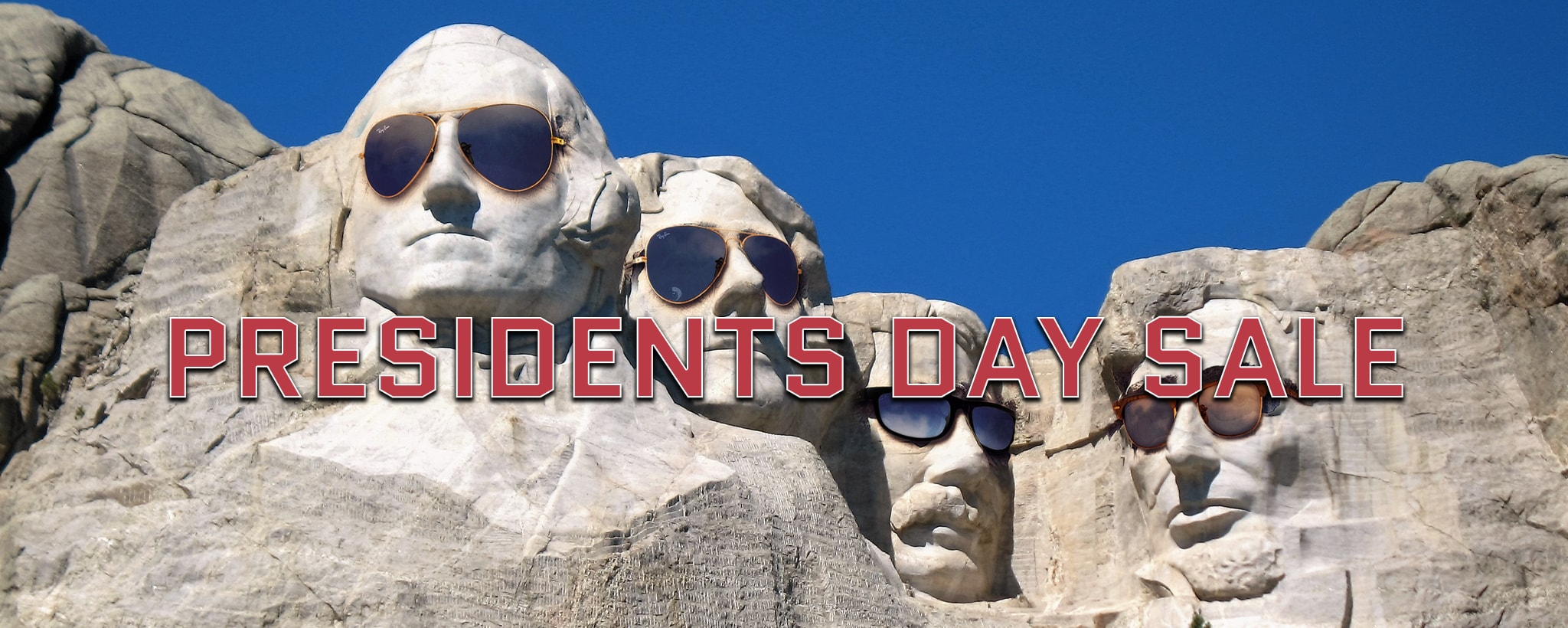 presidents day sale with text