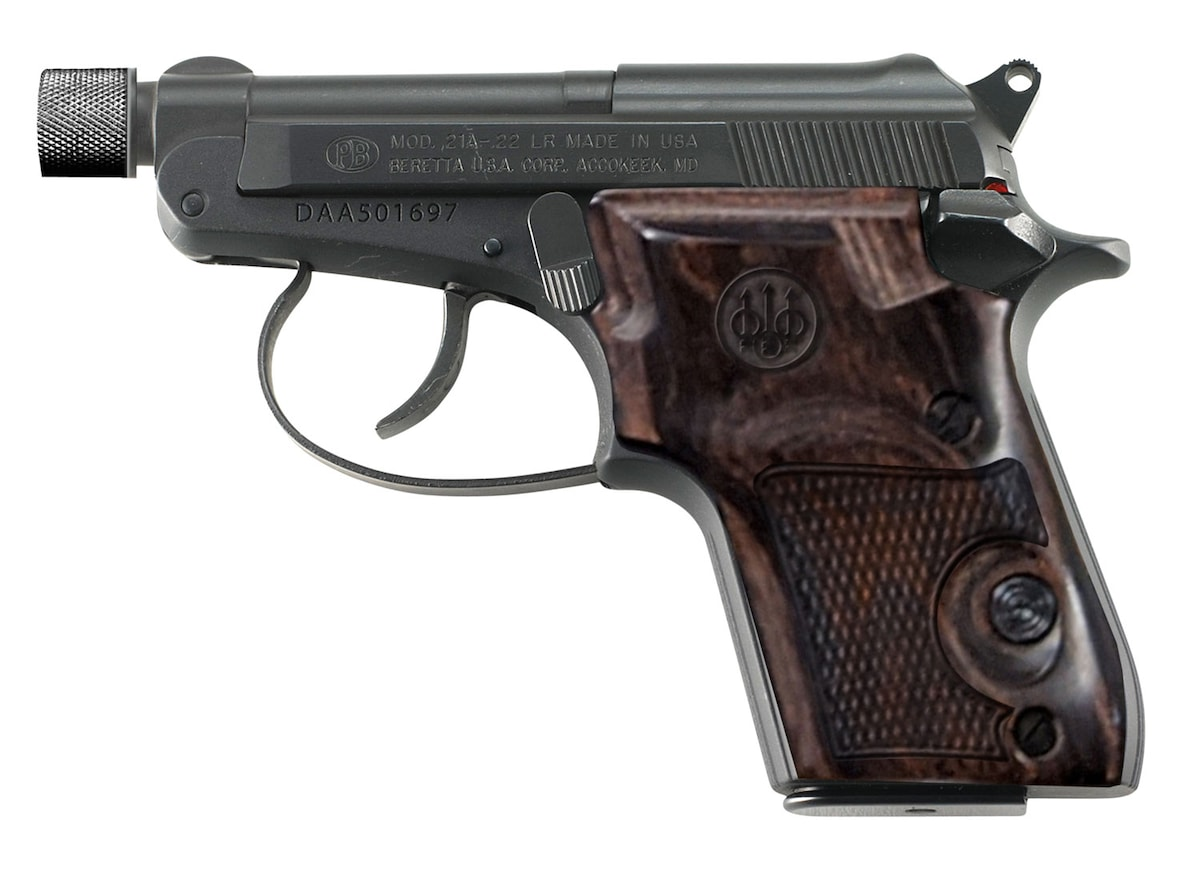 BERETTA 21A BOBCAT BLACK BRUNITON WALNUT GRIP