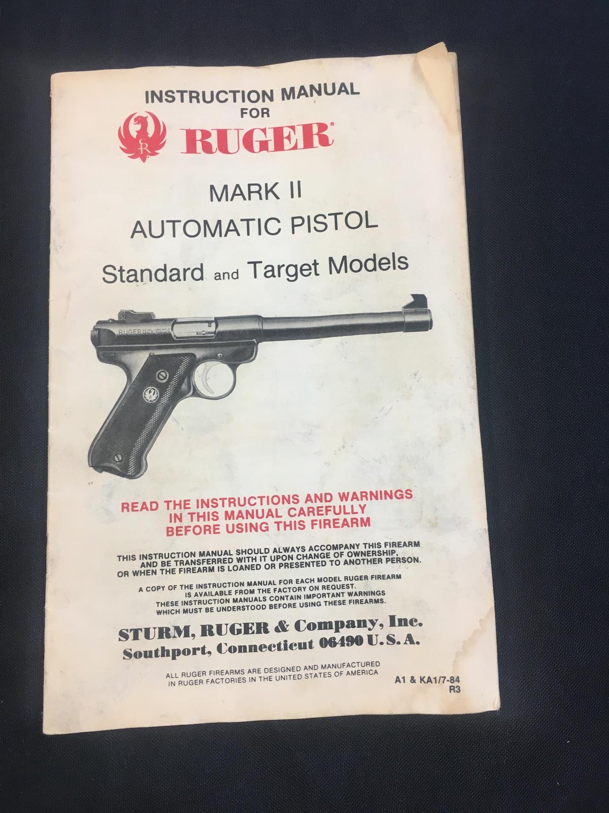 STURM, RUGER & CO., INC. MARK II TARGET PISTOL