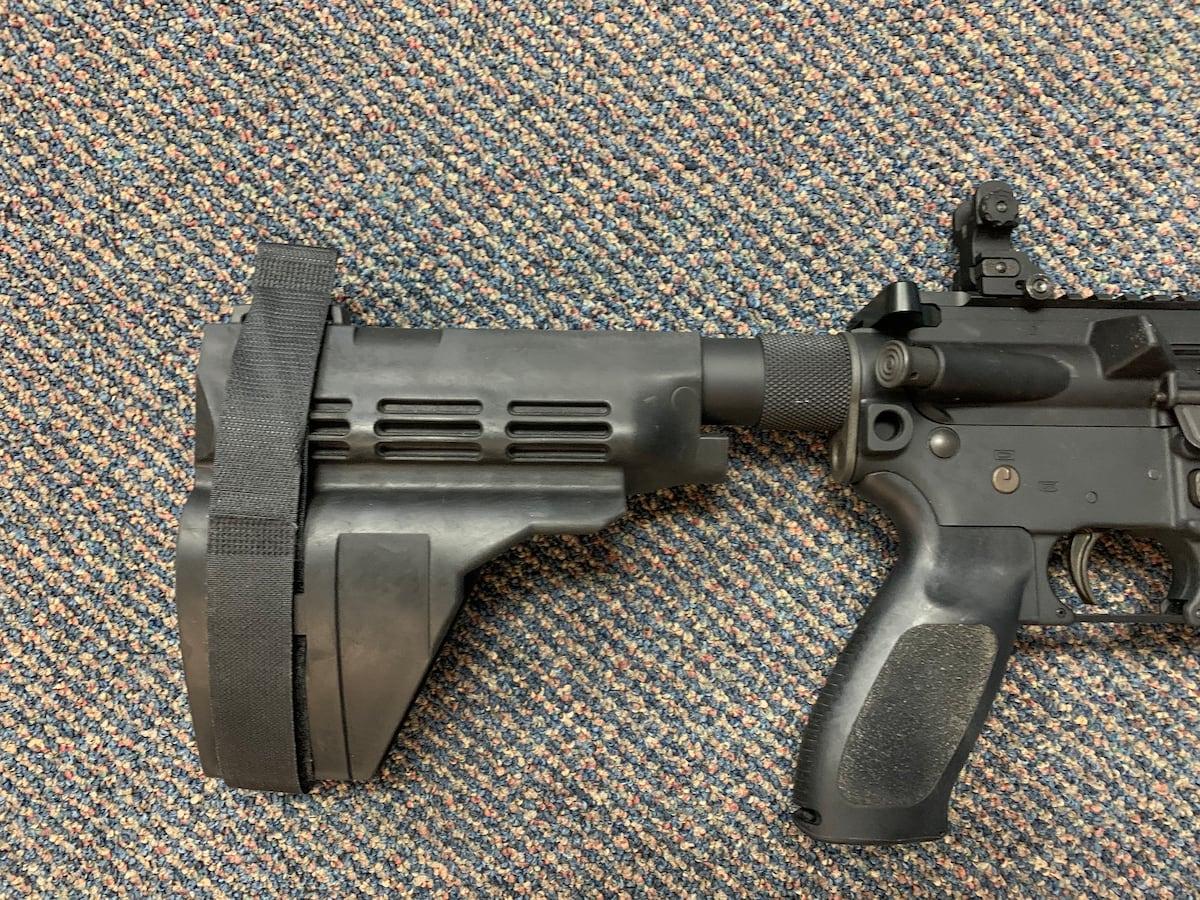 SIG 516 pistol w stabilizing brace