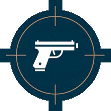 handgun target icon