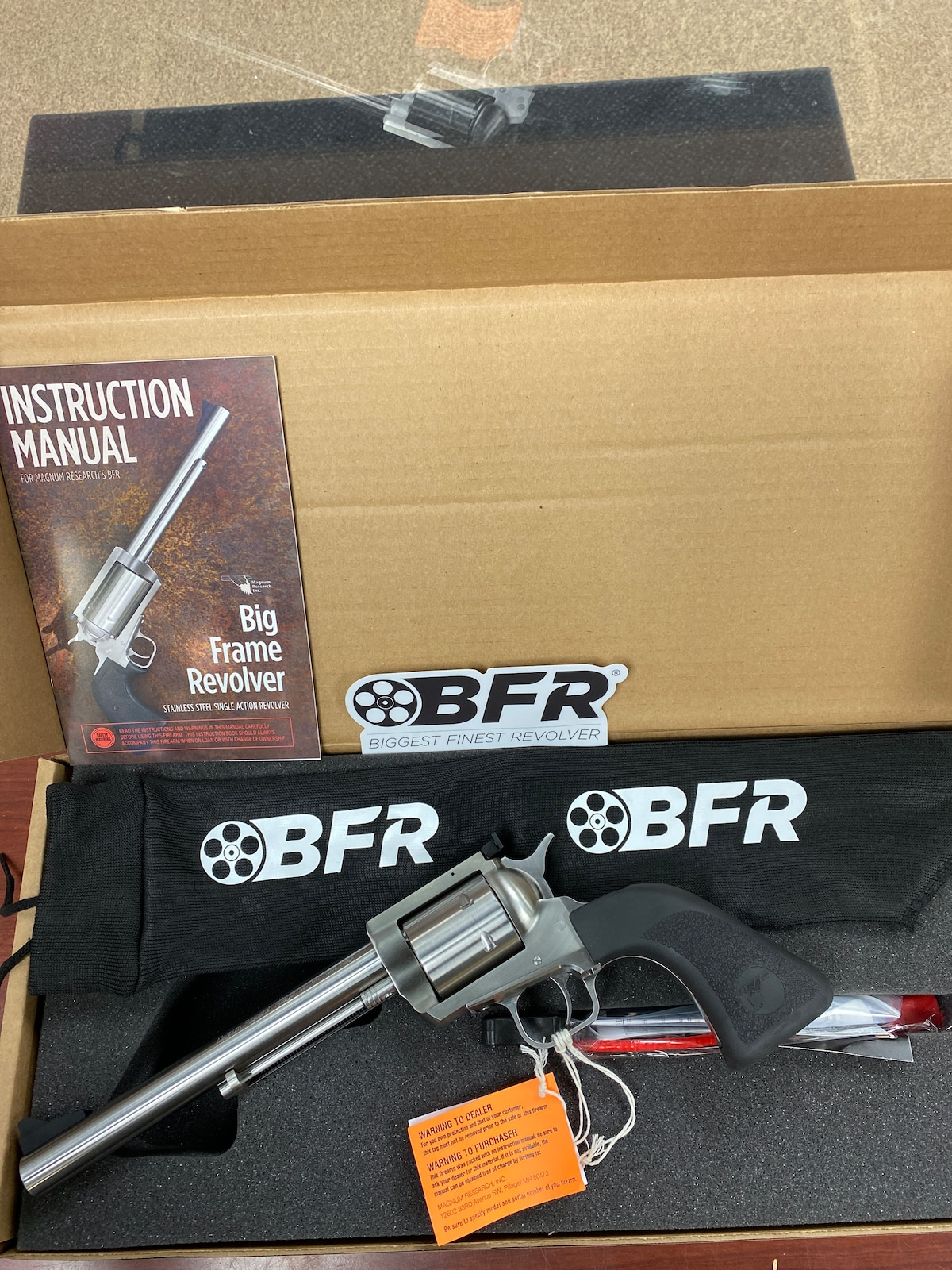 MAGNUM RESEARCH BFR bfr44mag7-6 6 rounds!