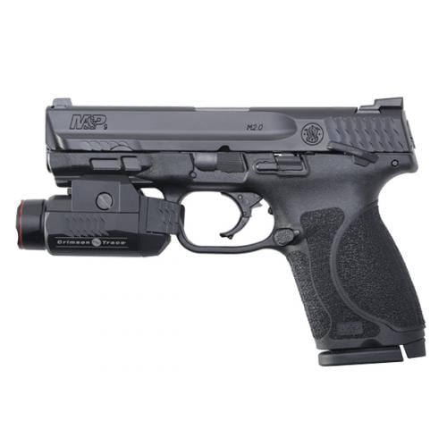"""SMITH & WESSON M&P®9 M2.0 4"""" COMPACT W/CRIMSON TRACE® RAIL MASTER UNIVERSAL TACTICAL LIGHT THUMB SAFETY"""