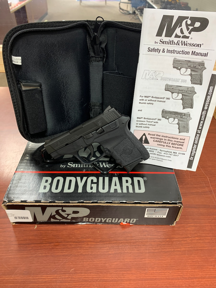 SMITH & WESSON M&P BODYGUARD 380 NO THUMB SAFETY 10266