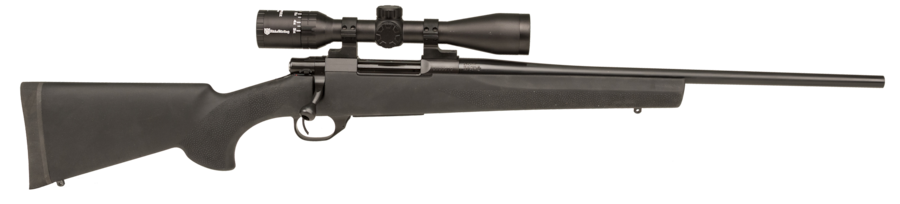 """Howa HGR73502 Hogue Standard 300 PRC 3+1 24"""" Black Fixed Hogue Pillar-Bedded Overmolded Stock Blued Right Hand"""