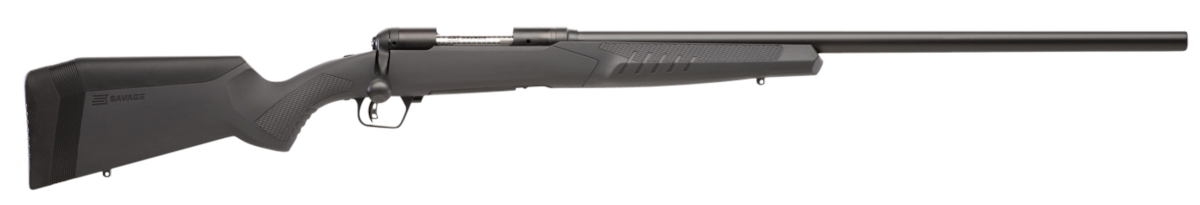 """Savage 57068 10/110 Varmint 204 Ruger 4+1 26"""" Matte Gray Fixed AccuFit Stock Matte Black Right Hand"""
