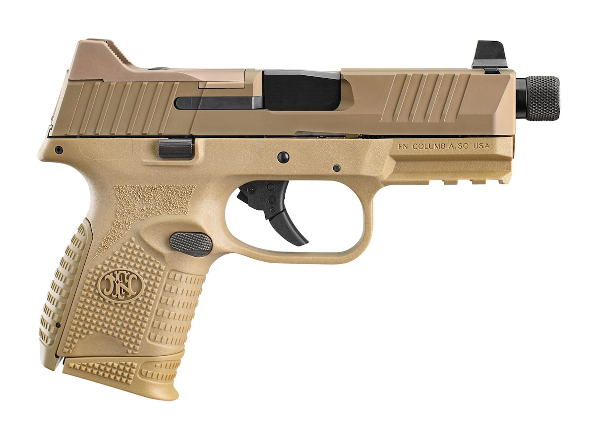 "FN America FN 509C Tactical 9mm Luger 4.32"" Threaded 15+1,12+1,24+1 Flat Dark Earth Interchangeable Backstrap Grip"