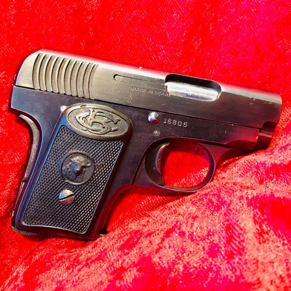 GABILONDOS Y URRESTI 25ACP Spanish Buffalo Mouse Gun Ruby Clone Spain