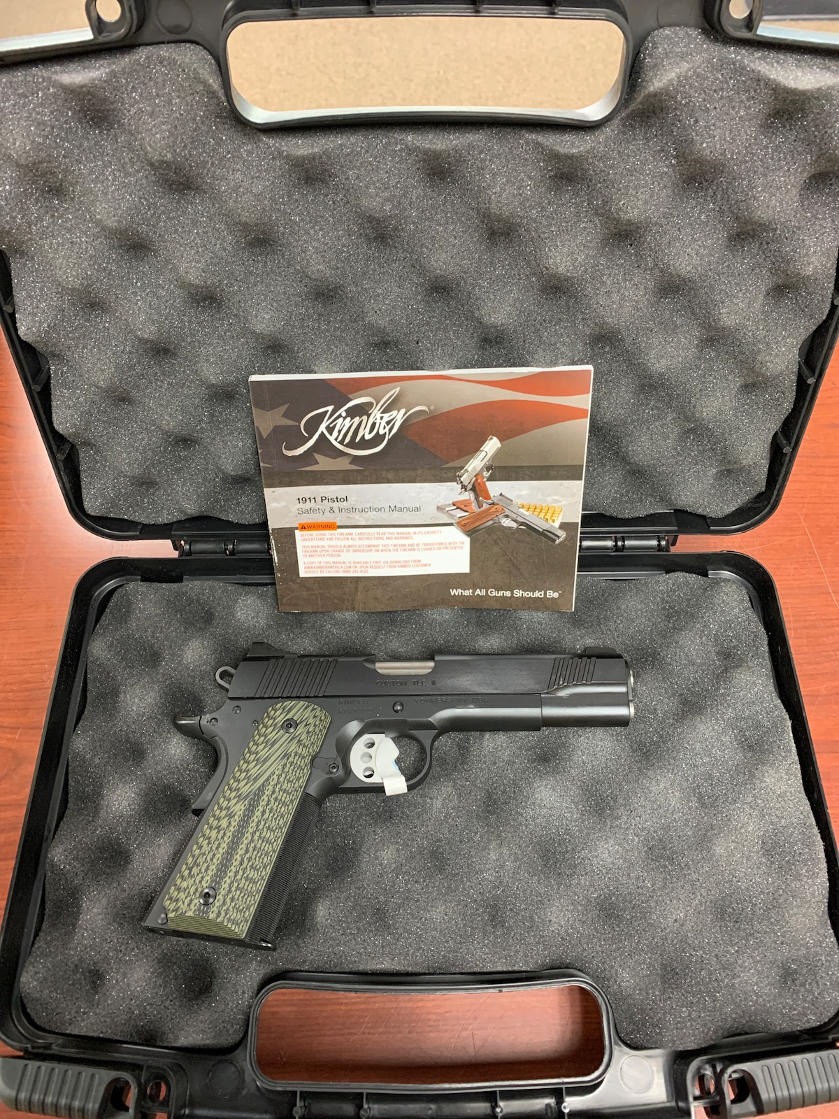 KIMBER Custom TLE II 1911 night sights