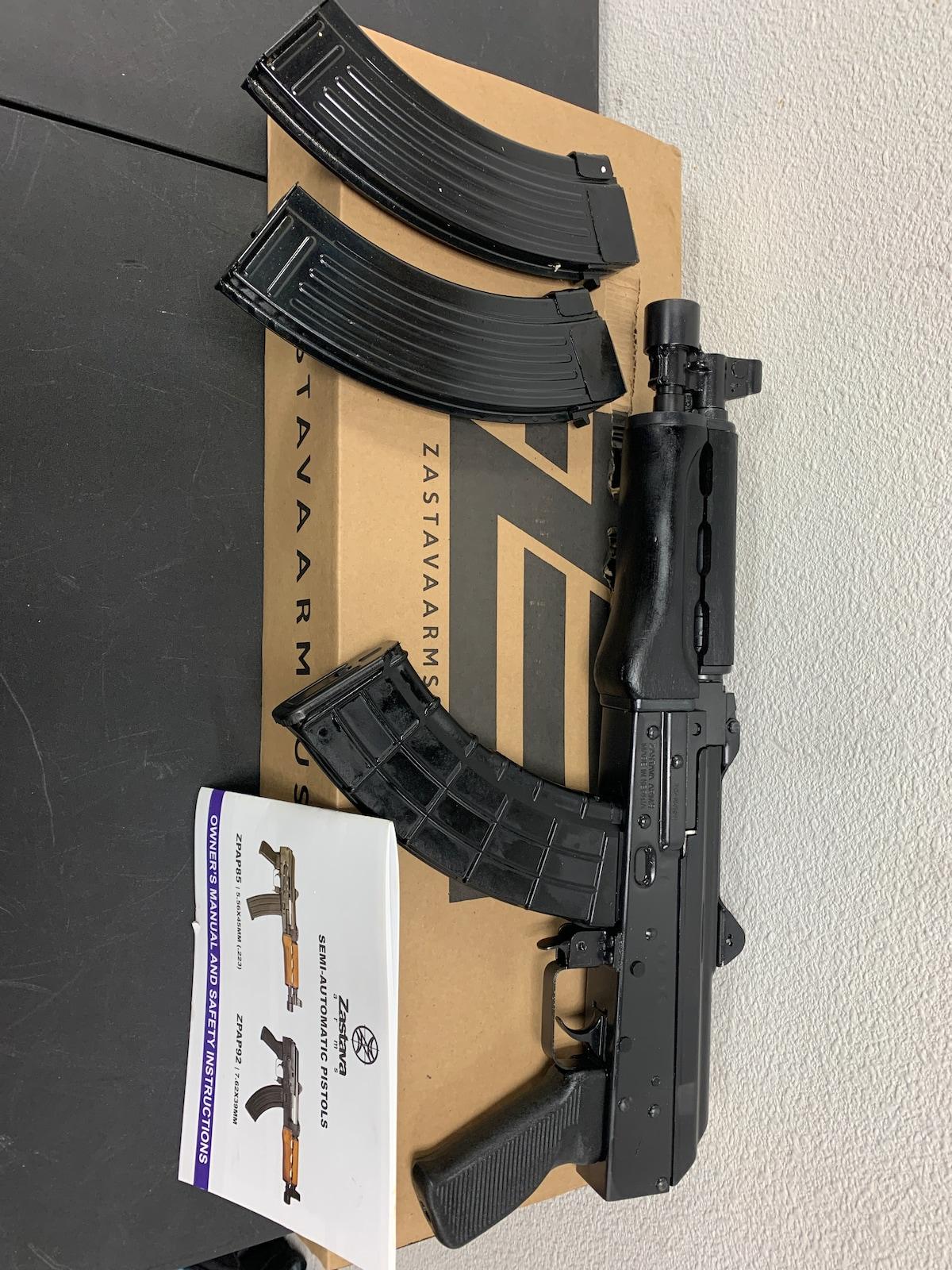 ZASTAVA ARMS ZPAP92 zp92762m 3 mags