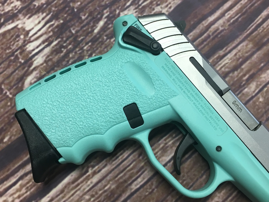SCCY INDUSTRIES CPX-1 SCCY BLUE with thumb safety