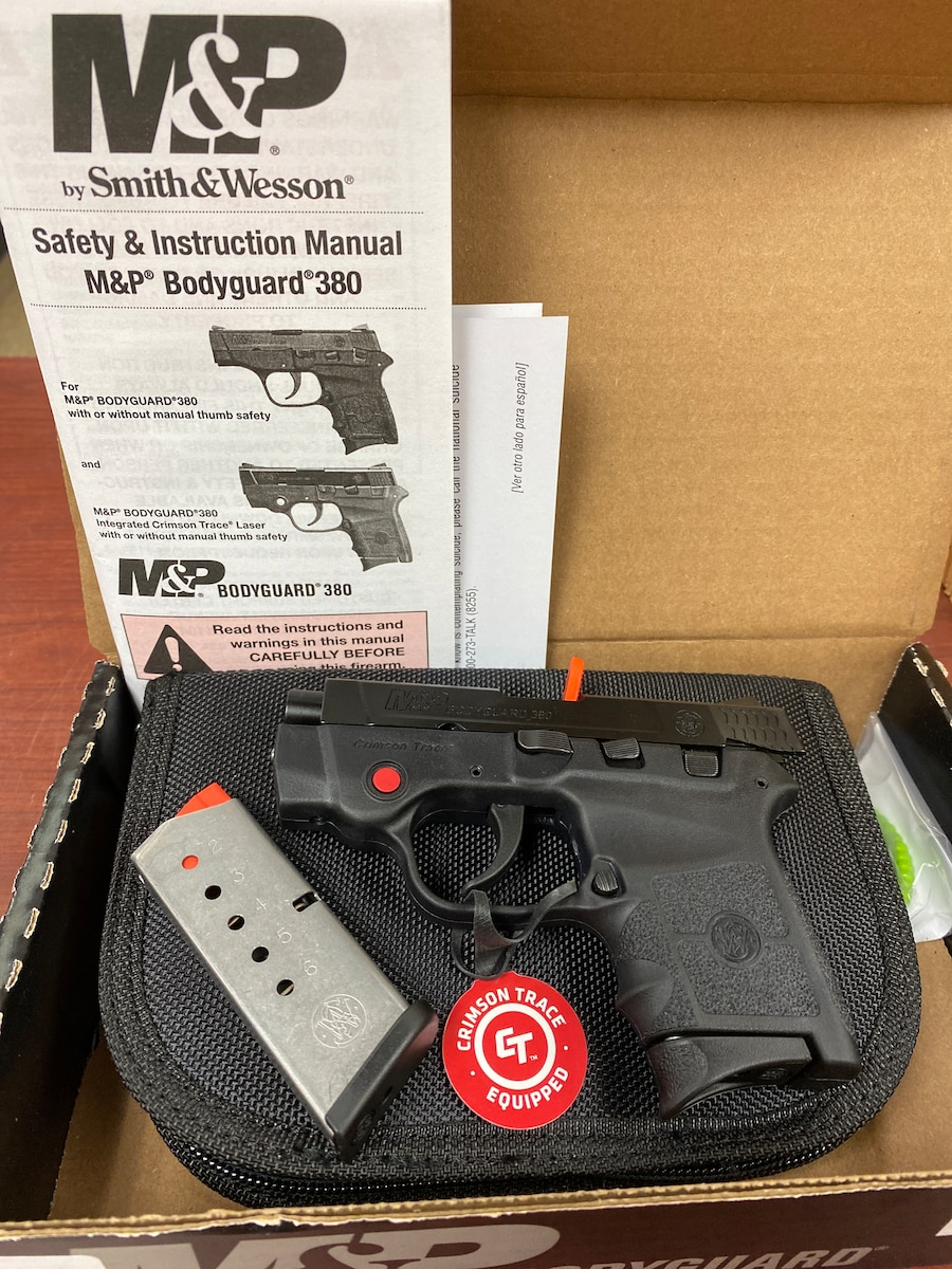 SMITH & WESSON BG380 Bodyguard 10048 with CT Laser