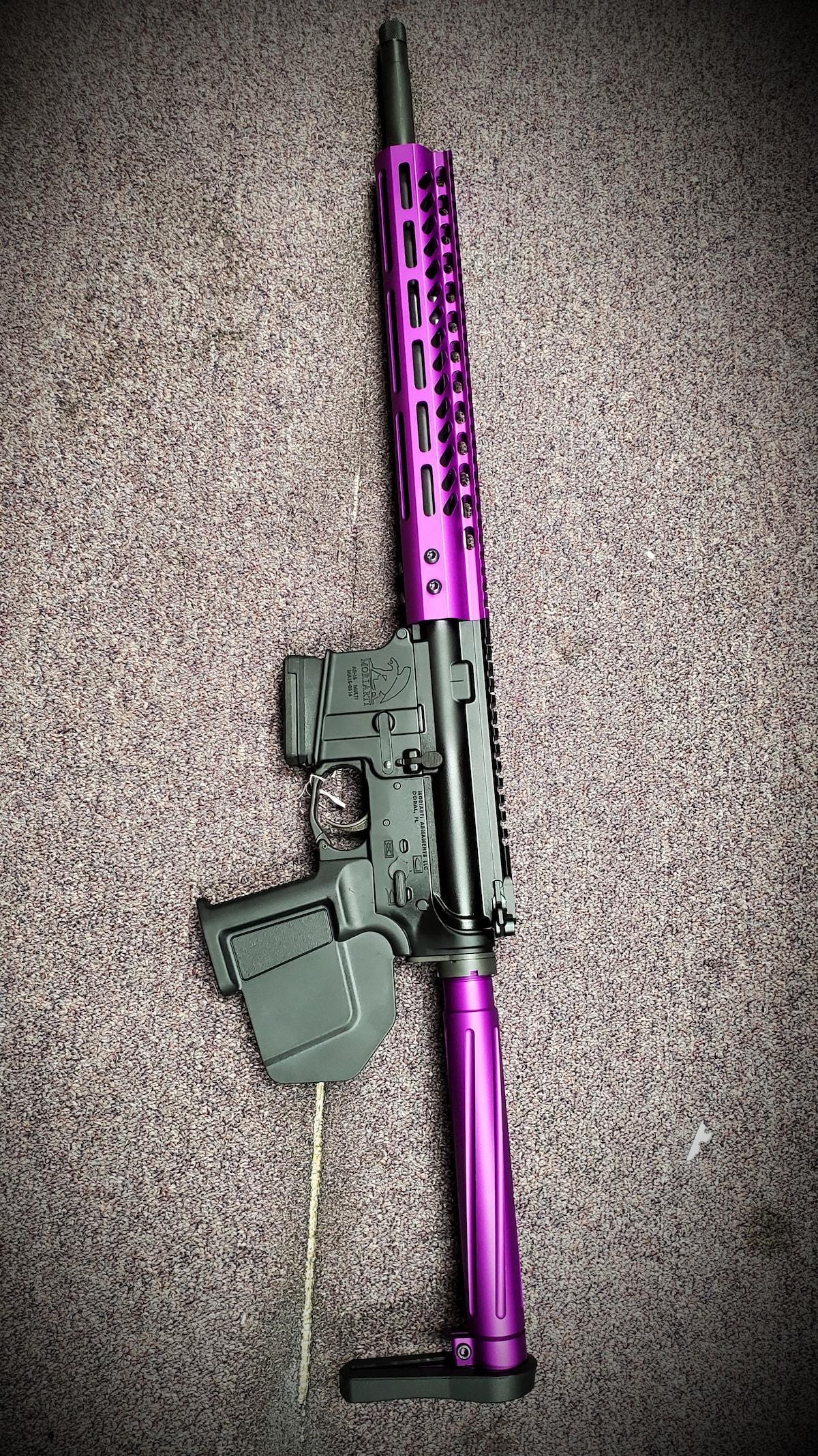 MORIARTI ARMAMENTS Special edition Featureless AR-15 Fingrip