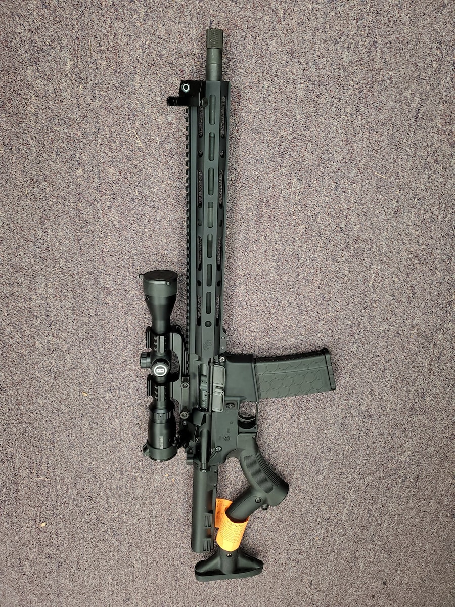 KARRI'S GUNS Featureless AR AR-15 M4 M16 full package ready to go with scope and iron sight
