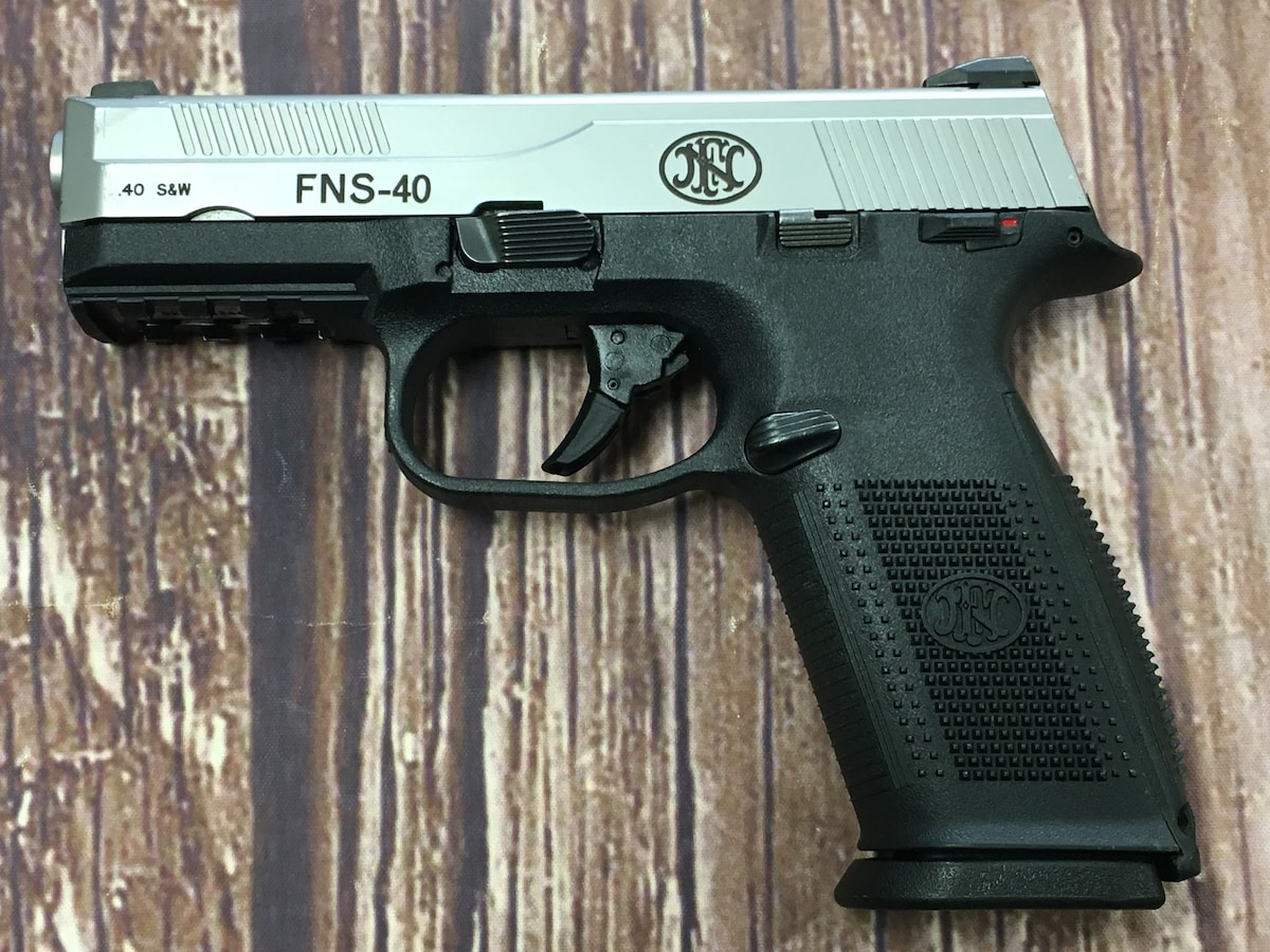 FNH FNS-40 Silver Slide (night sights)