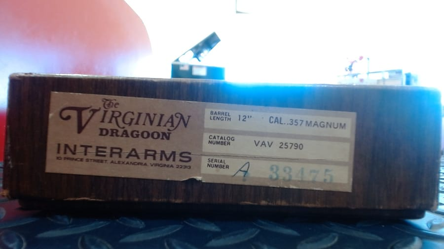 INTERARMS The Virginian Dragoon