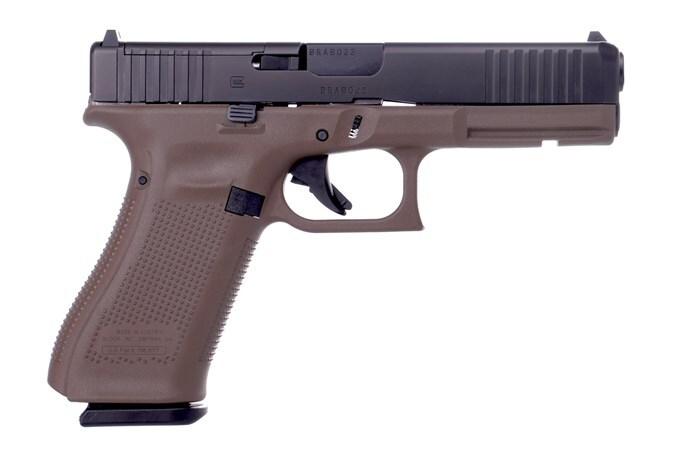 GLOCK g17 g5 9mm mos fde front serrations