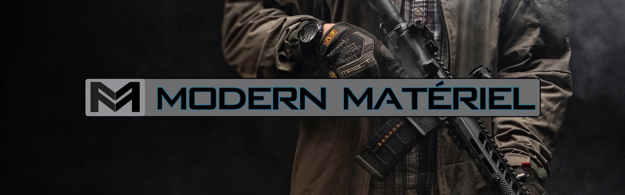 modern materiel brand banner