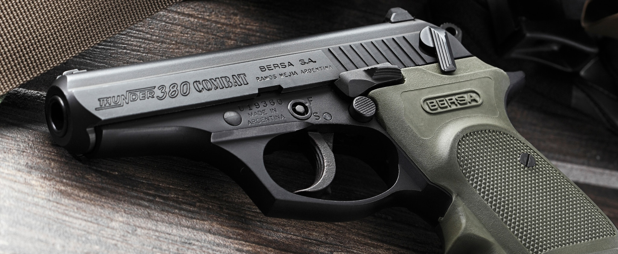 Bersa Handgun closeup