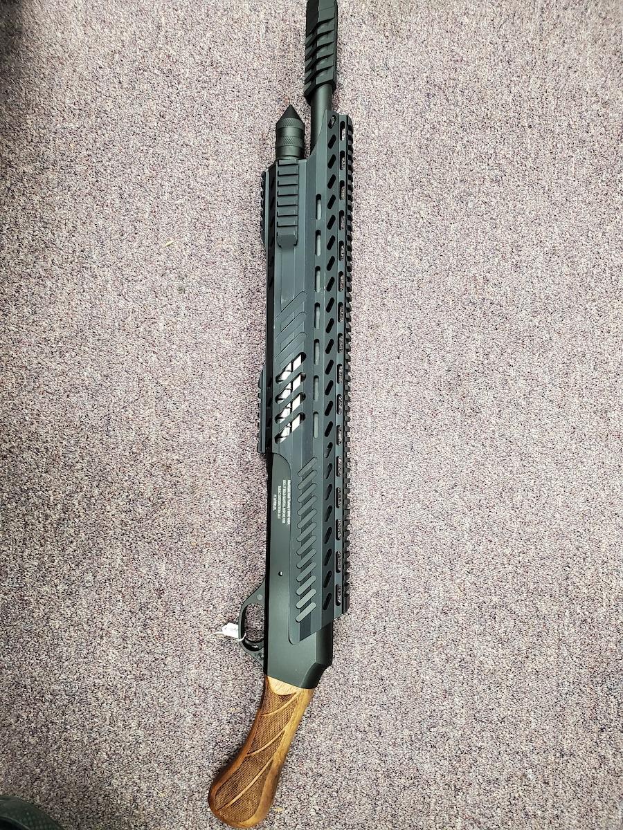 """EMPEROR ARMS Limited Edition MOGULMAX ULTRA BLACK NON NFA SEMI AUTO 12GA 18.5"""" BRL"""