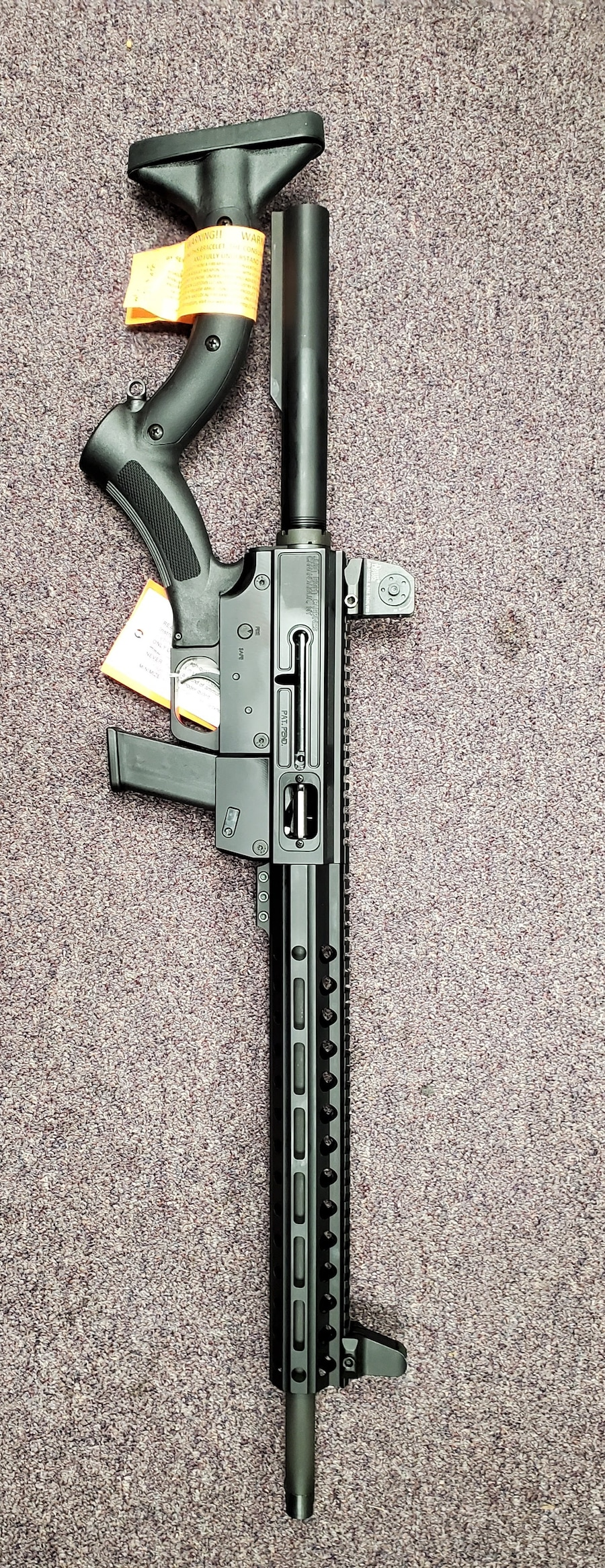 JUST RIGHT CARBINE AR style 45acp FEATURELESS CARBINE with daniel defense iron sight