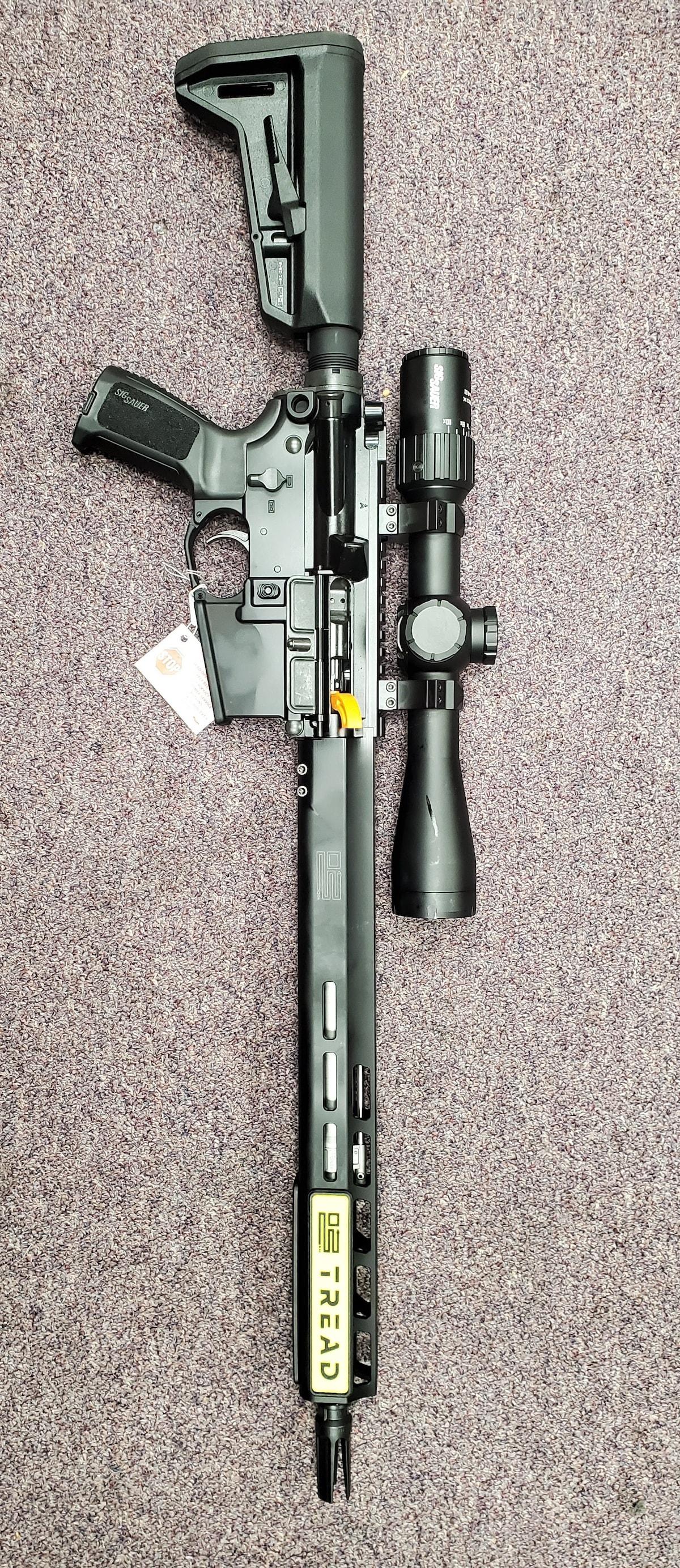 SIG SAUER AR M4 M16 AR15 Sig Sauer M400 With Sig Sauer Scope