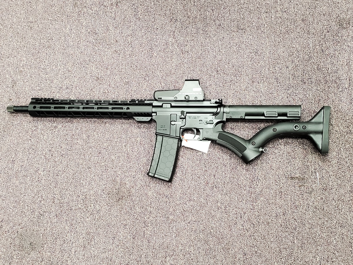 PALMETTO STATE ARMORY Featureless AR15 PA15 AR M4 M16 with red dot sight