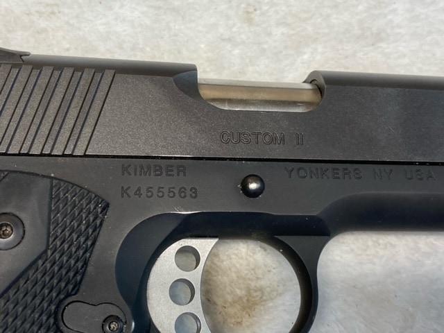 KIMBER 1911 Custom II Black w/Factory Box & Accessories