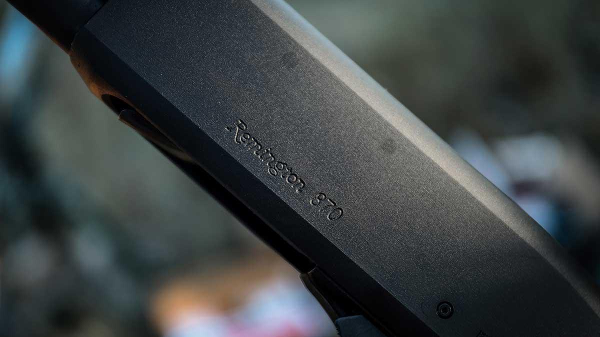 Remington 870 pump action duck hunting shotgun