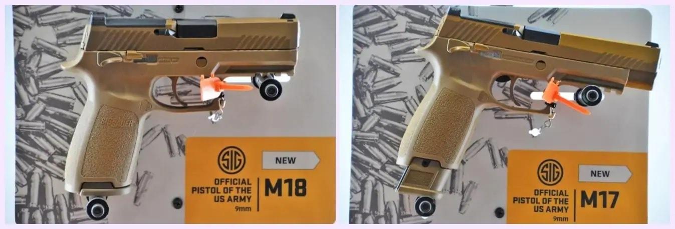 M17 and M18 Sig Sauer pistols