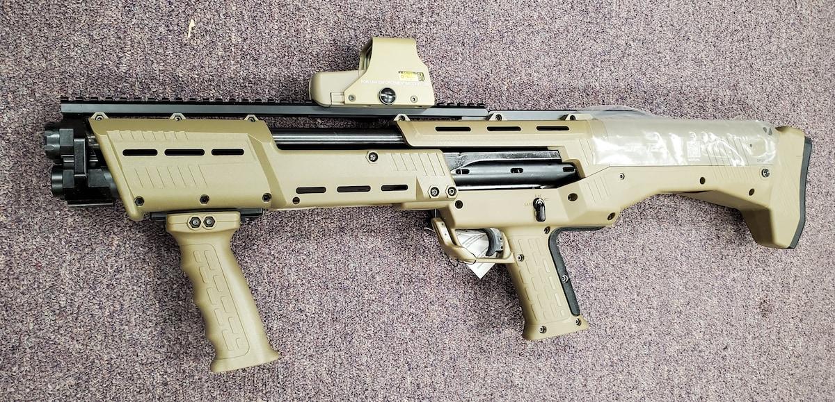 STANDARD MFG. DP12 Flat-Dark Earth DP-12 Double Barrel Pump Shotgun with red dot sight