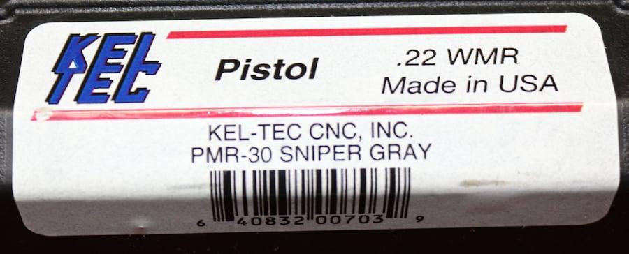KEL-TEC .22WMR PMR-30  SNIPER GRAY