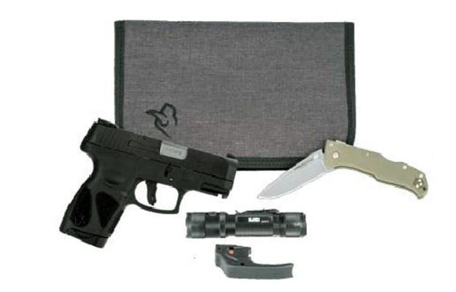 TAURUS G2C Handgun 9mm Luger 12rd Magazine  Black Slide/Black Grip w/EDC Kit