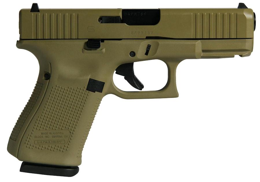 GLOCK G19 Gen5 W/Front Serrations 9mm Luger Barrel Fixed Sights FDE