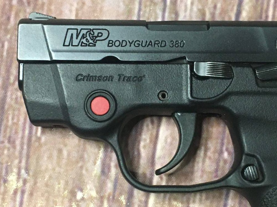 SMITH AND WESSON Bodyguard 380 with crimson trace laser